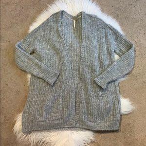 Free People Alpaca Grey Cardigan